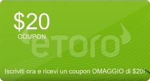 Bonus copytrader eToro 20$ gratis