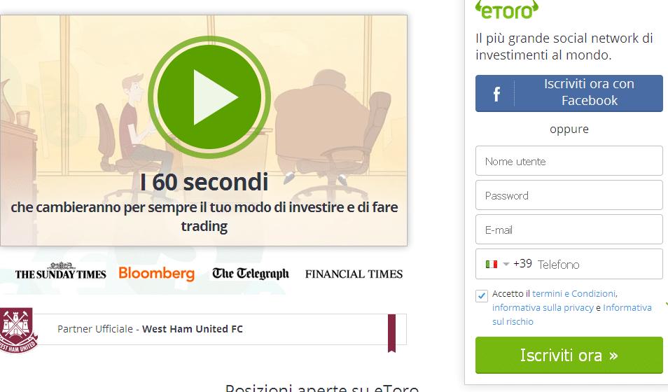 registrazione etoro