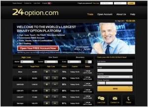 La recensione e come investire con 24Option con opzioni binarie