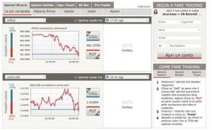 Esempio piattaforma di trading