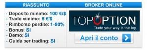 Fare trading binario col broker TopOption