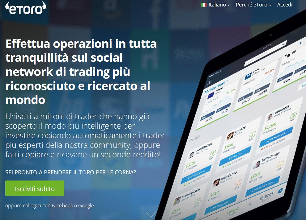 etoro: come guadagnare col social trading