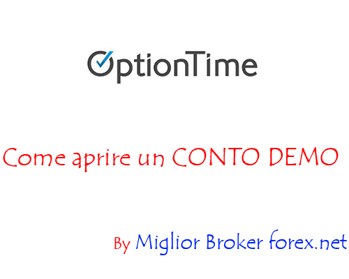 Come aprire conto demo OptionTime