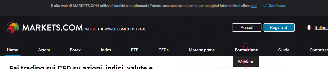 webinar markets forex