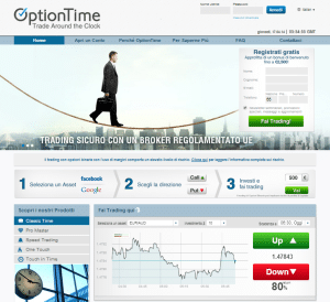 broker opzioni optiontime