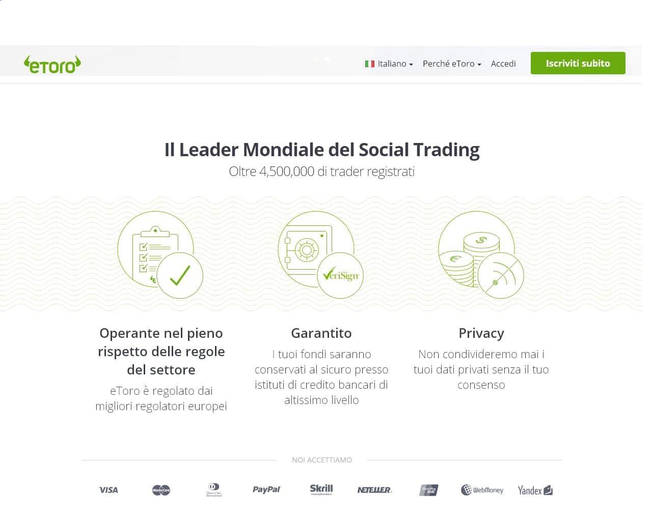 Webtrader + social trader copy trader: nasce il nuovo Etoro!