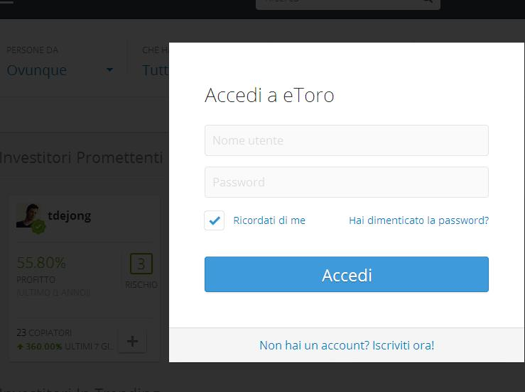 login copy etoro