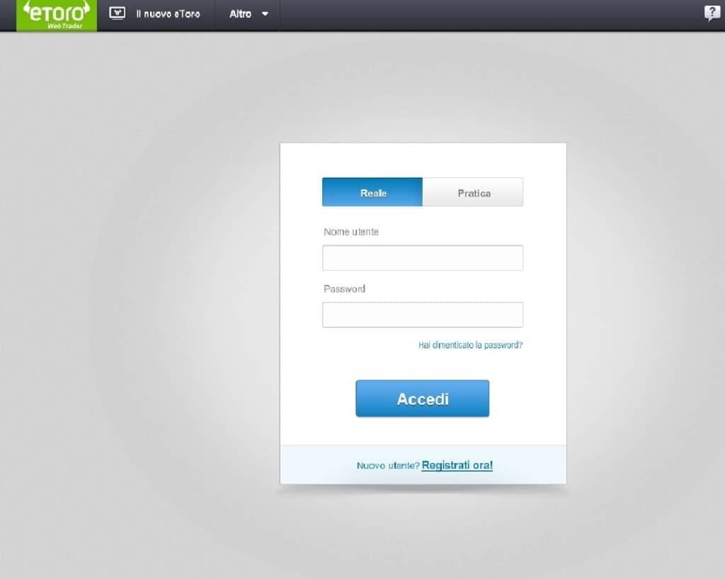 webtrader demo accesso