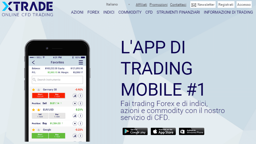 xtrade-piattaforma. mobile png