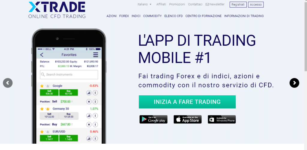 mobile Xtrade