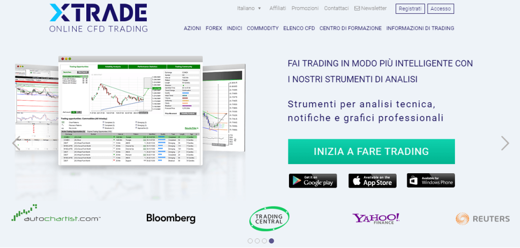 Platforms. Xtrade is a market maker in CFDs, and in order to present the best operating environment for these special instruments, the firm developed its own customized, online, real time trading platform.