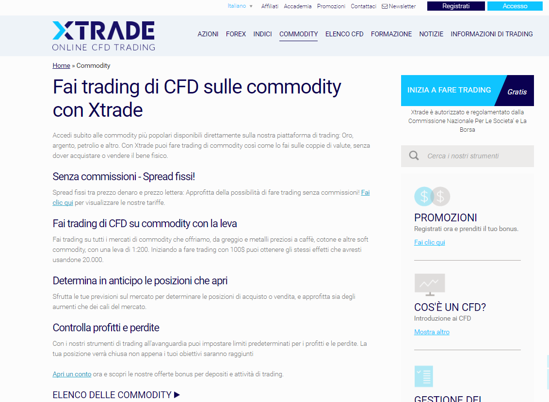 commodity xtrade