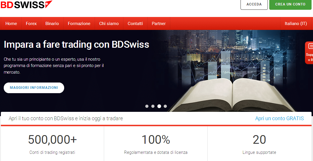 pacchetto formativo bdswiss
