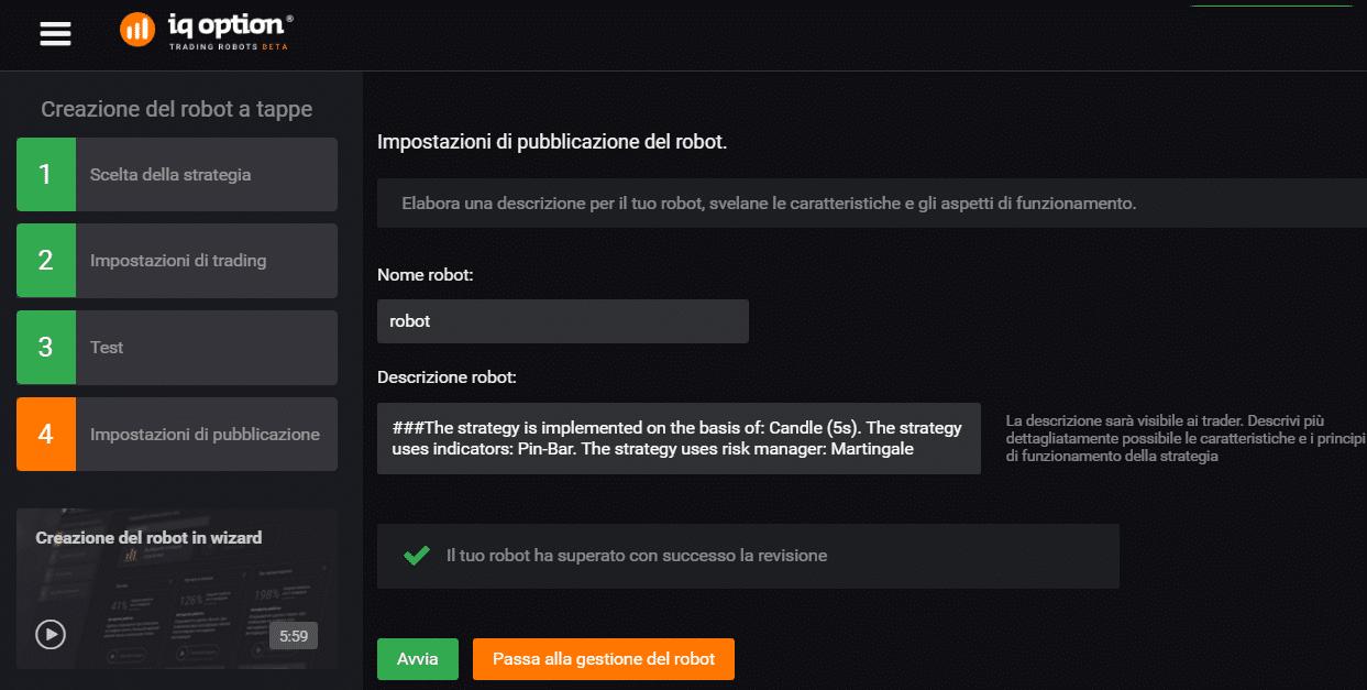 quarto processo robot iq option