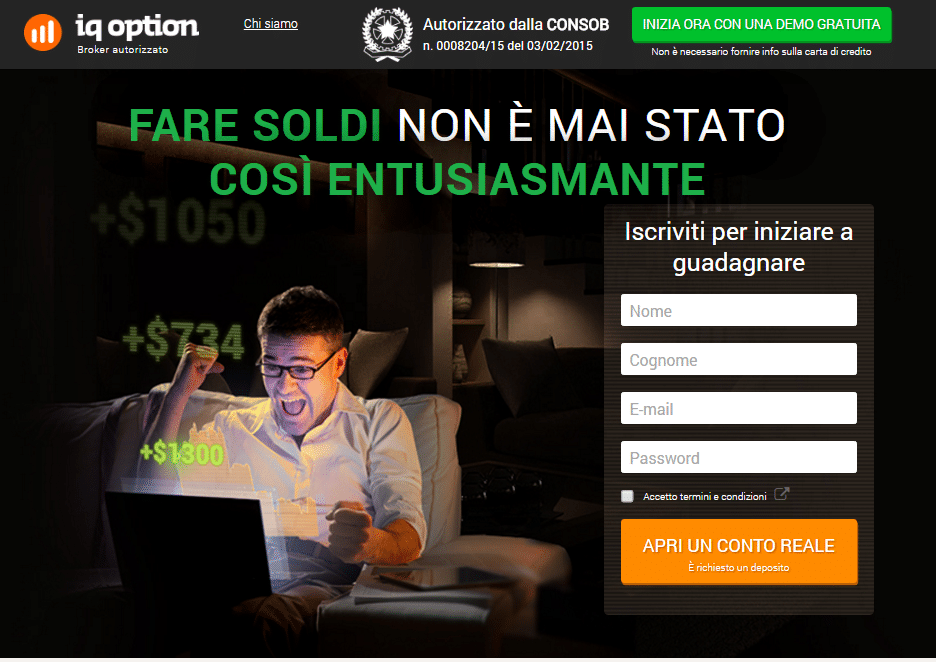 registrazione iq option