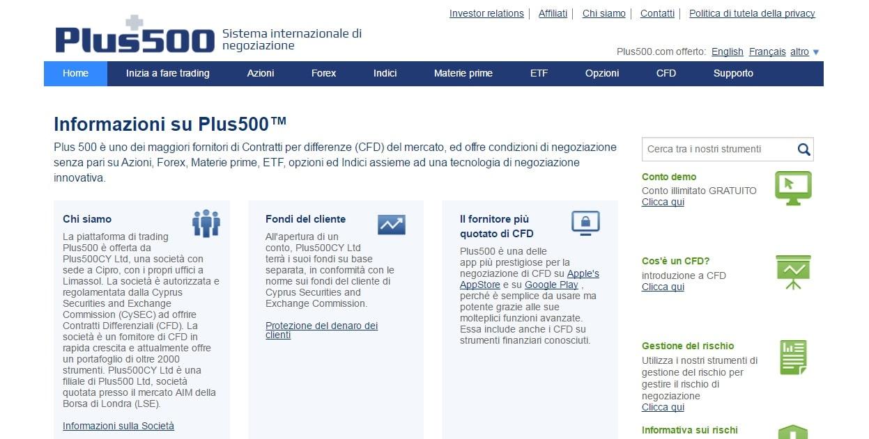 Informazioni Plus500
