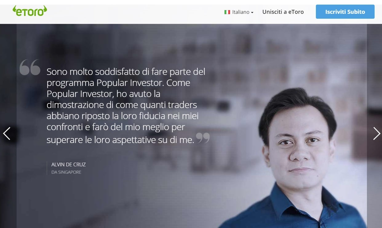 Programma popular investor eToro