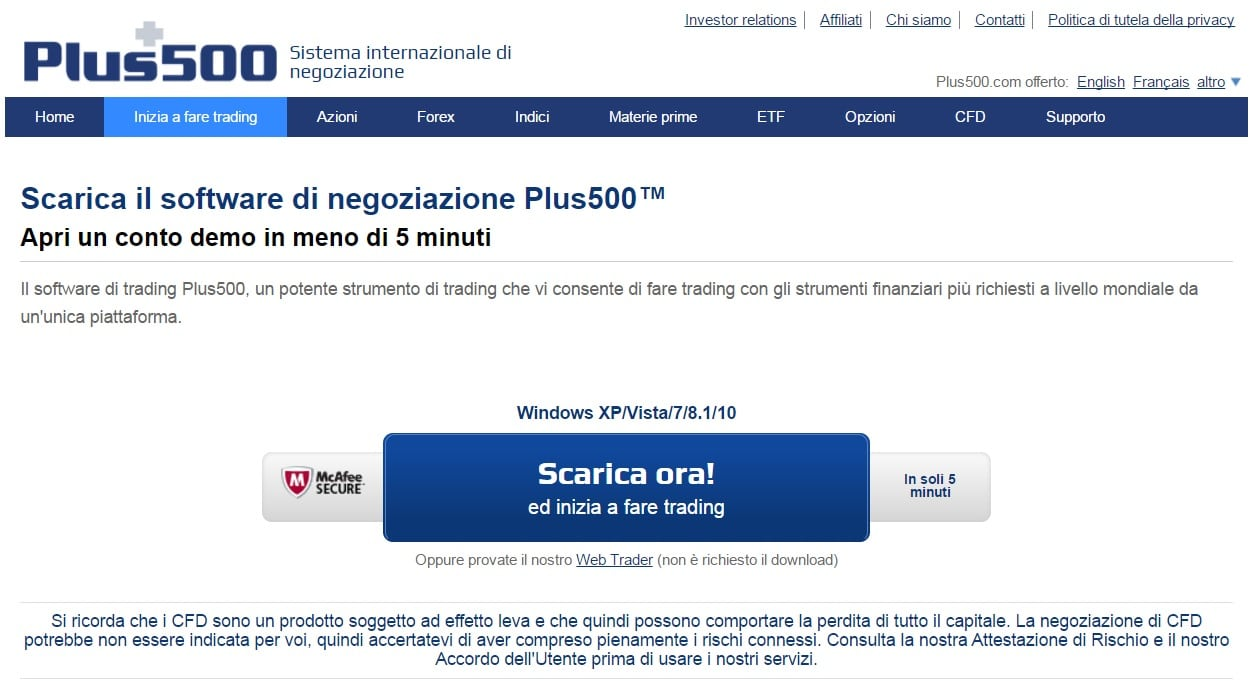 registrazione plus500