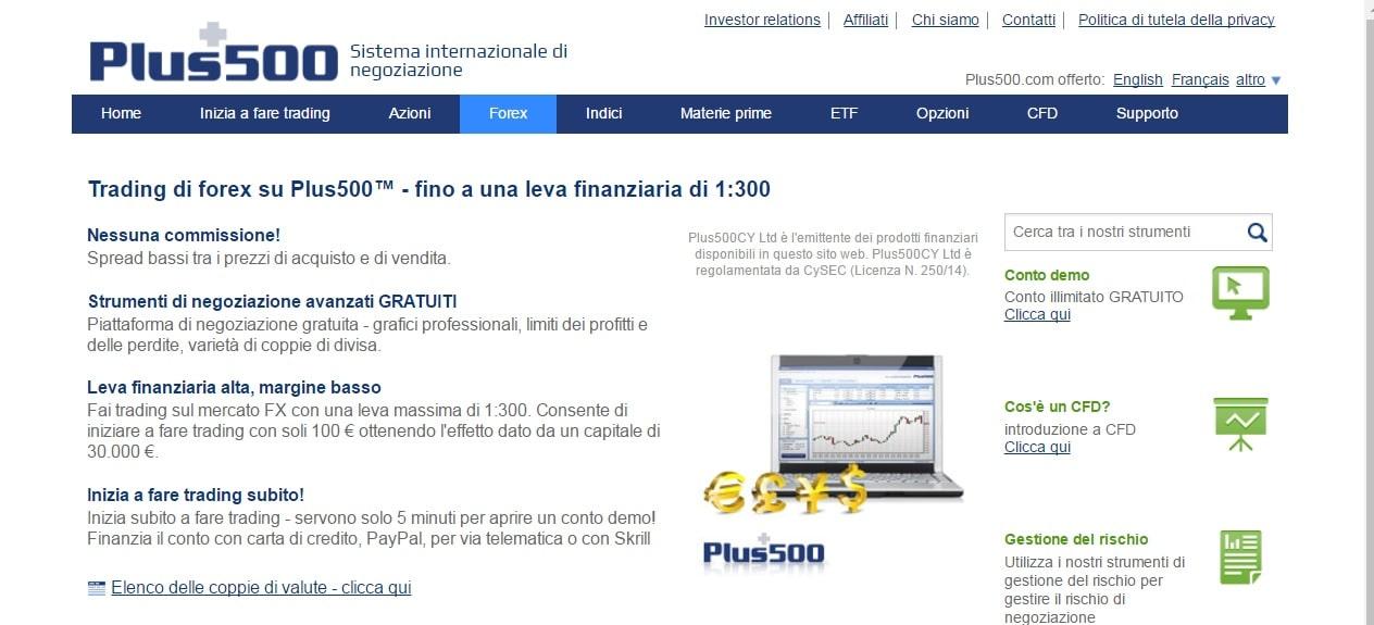 Valute Plus500