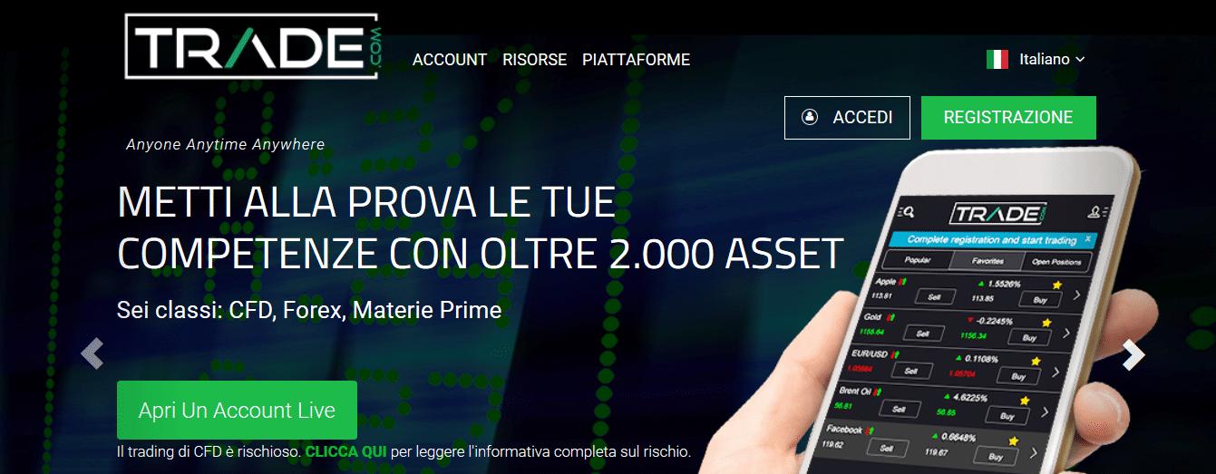 pagina ufficiale trade.com
