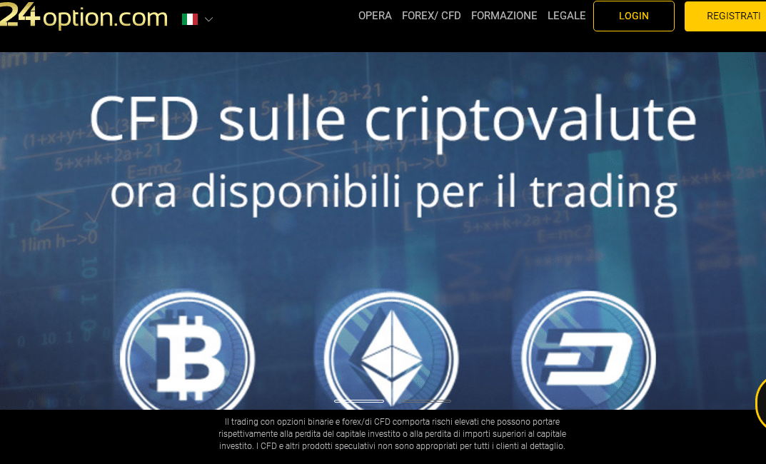 trading criptovalute su 24option