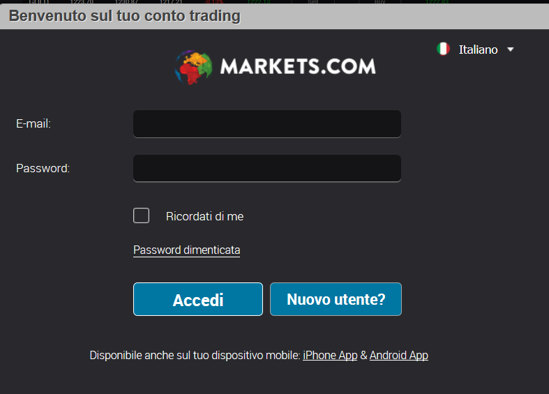 accesso online broker