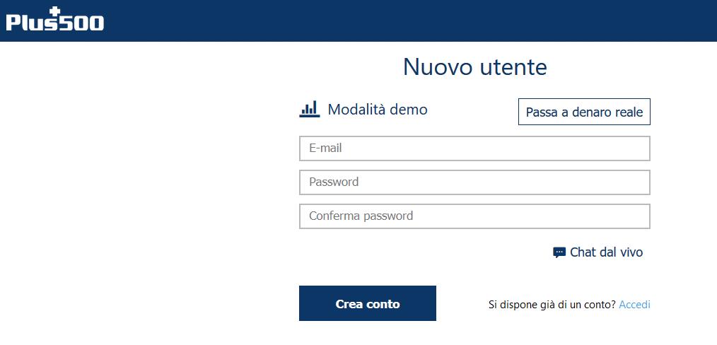 registrazione conto online