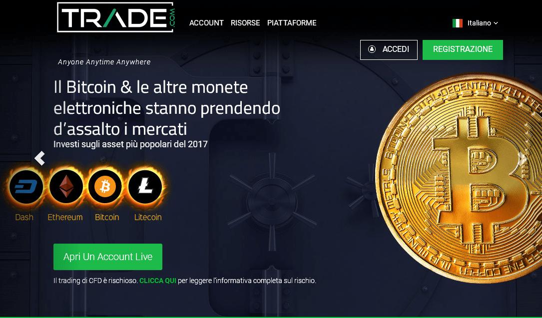 Trading criptovalute con Trade.com