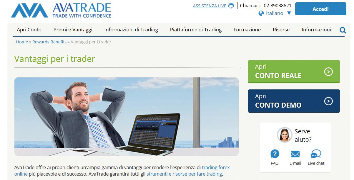 vantaggi traders