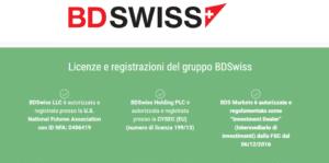 informazione sulla regolamentazione bdswiss