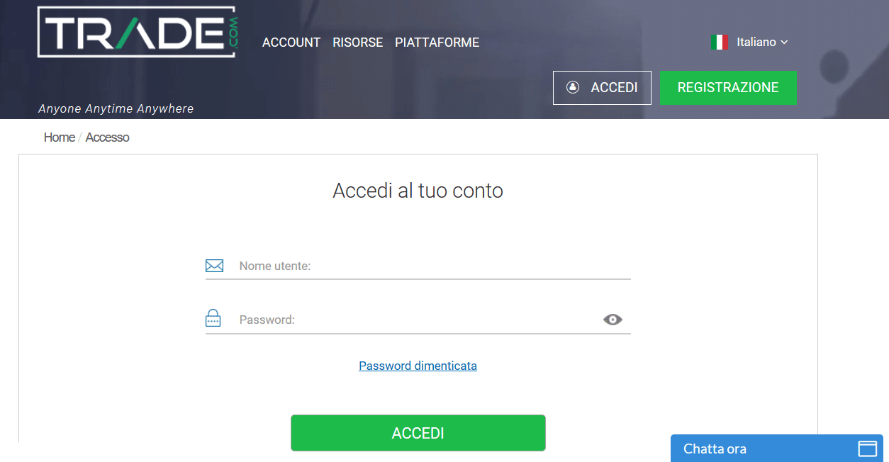 trade accesso