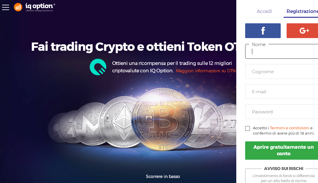 Trading criptovalute iq option