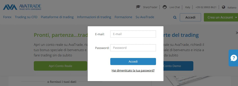 accesso conto