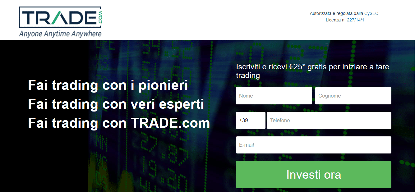 trade.com-registrazione online