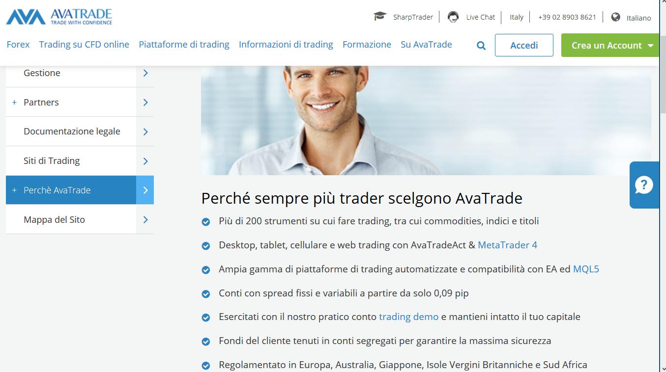 vantaggi trading avatrade