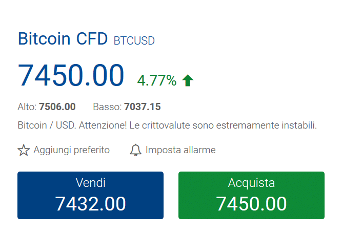 acquista bitcoin