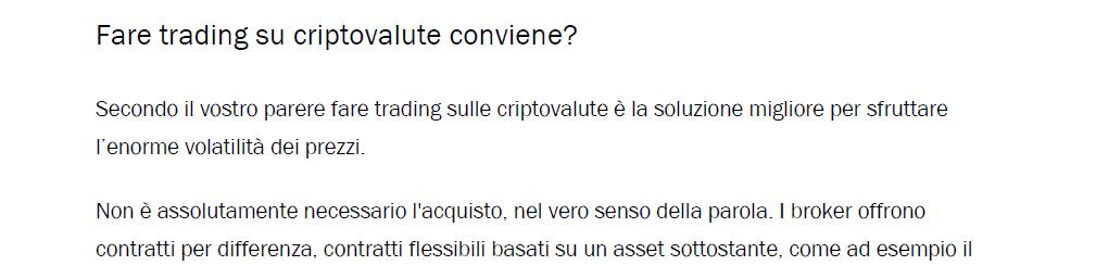convenienza cripto