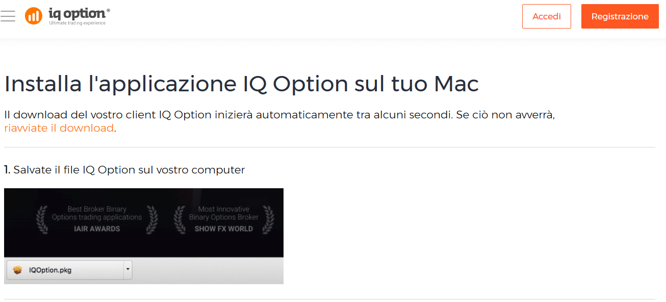 installazione mac