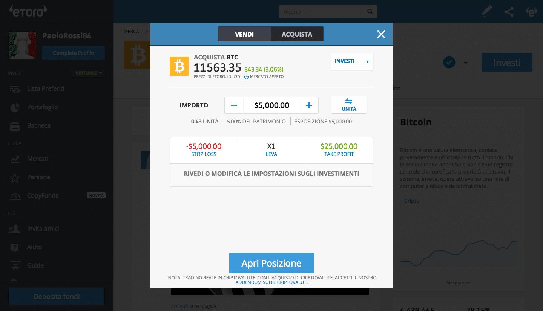 Finalizzare acquisto Bitcoin Cash