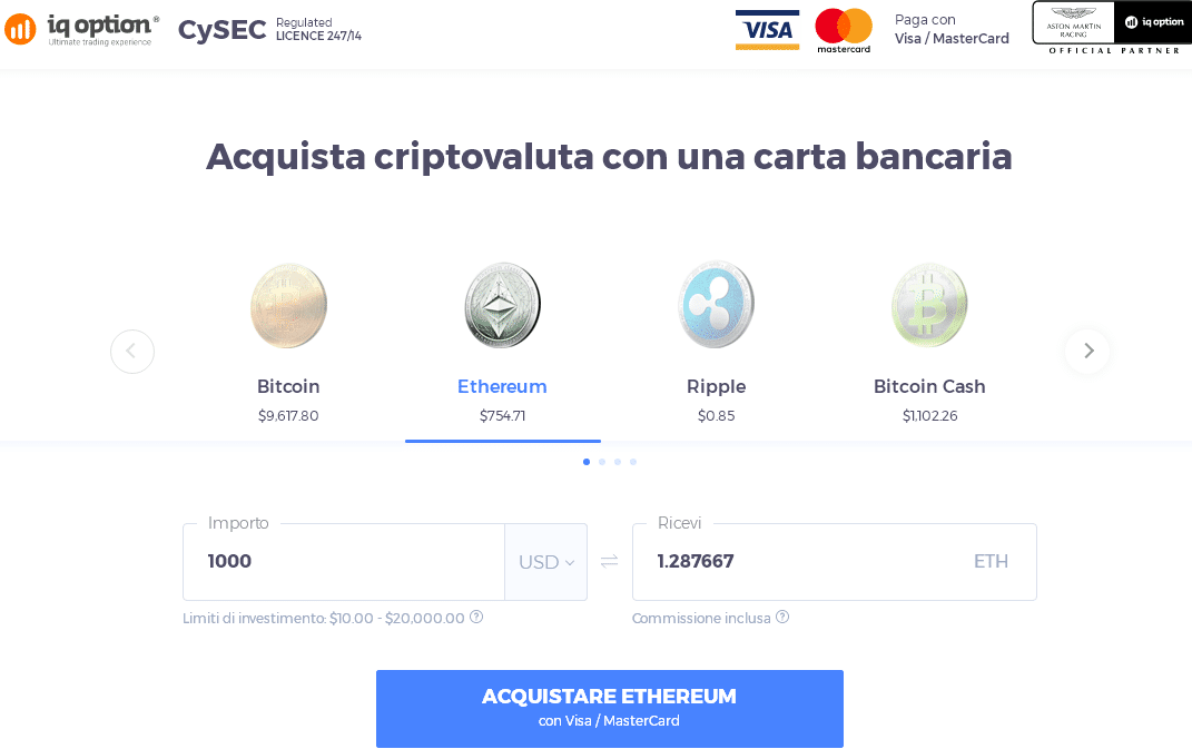 ethereum visa mastercard