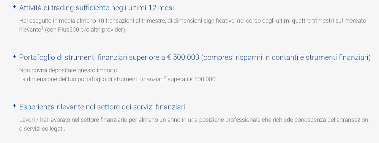 account professionale plus500