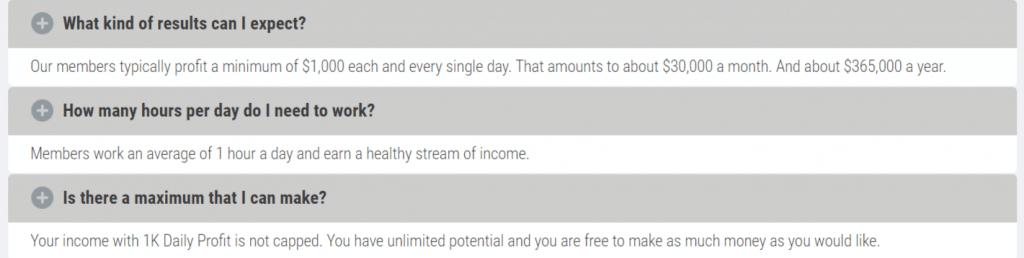 1k daily profit opinioni negative
