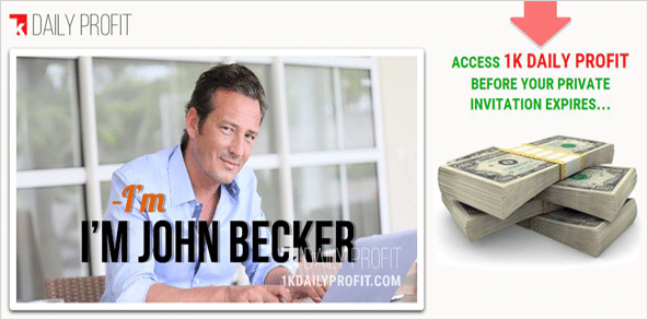 john becker 1k daily profit