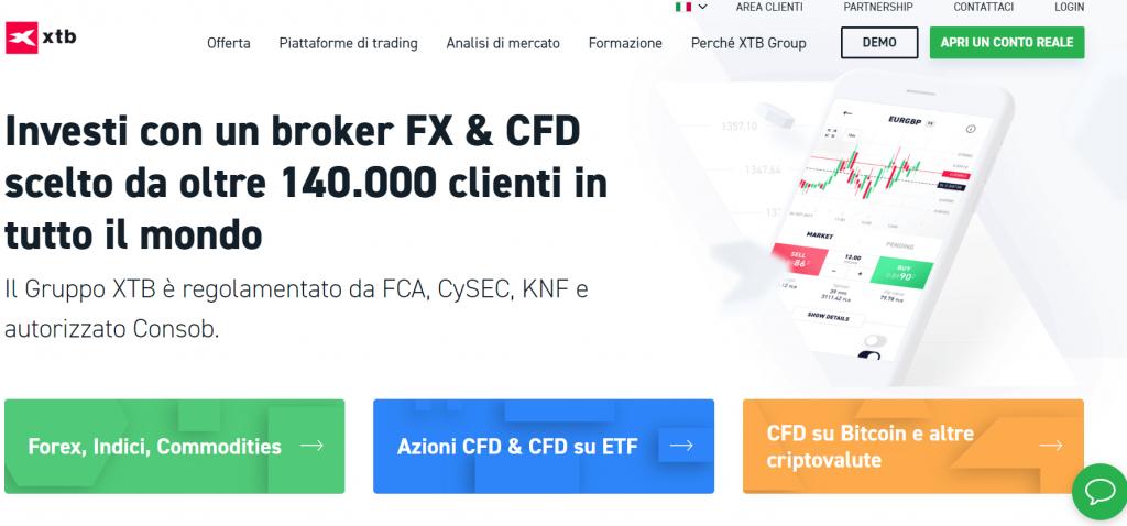 XTB, sito ufficiale - guida completa al broker xtb