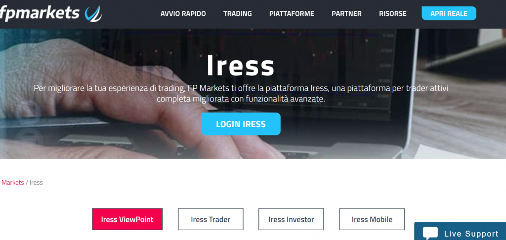 piattaforma trading iress fp markets
