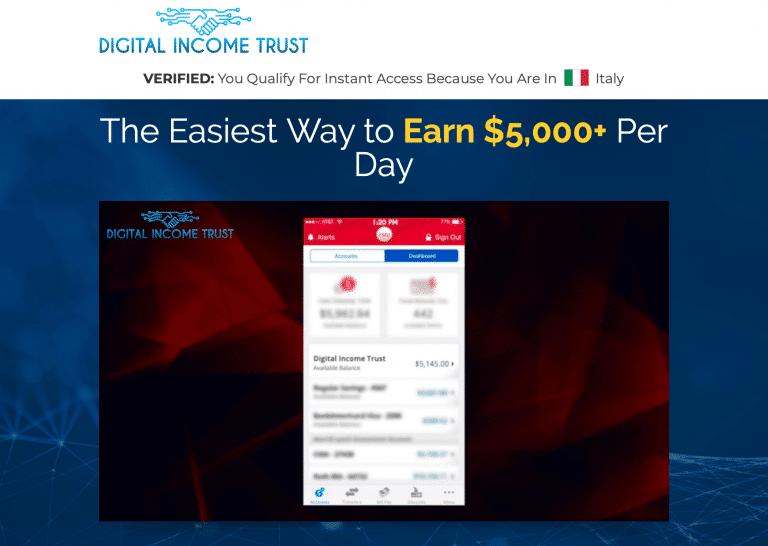 Digital Income Trust Truffa? Opinioni e recensioni
