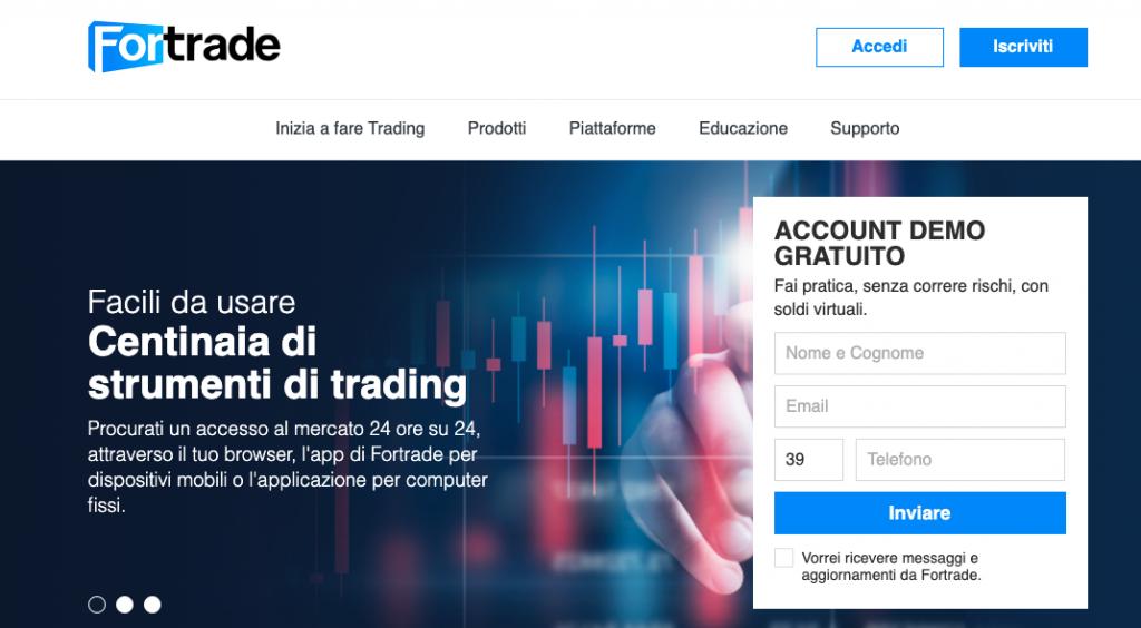 Il sito ufficiale del broker ForTrade - broker sicuro o è una truffa?