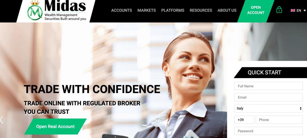 MidasWMS è un broker sicuro o una truffa? leggi cosa abbiamo scoperto