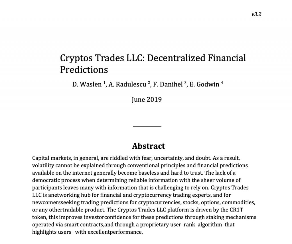 il white paper di cryptos trades? COPIATO