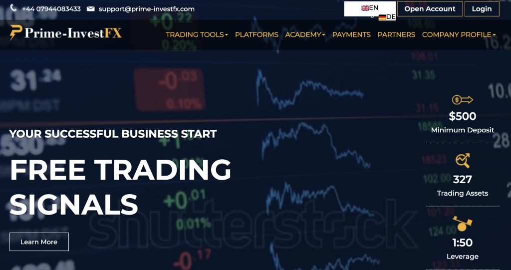 Le condizioni illegali di trading di PrimeInvestFX24 sono già chiare dalle prime battute